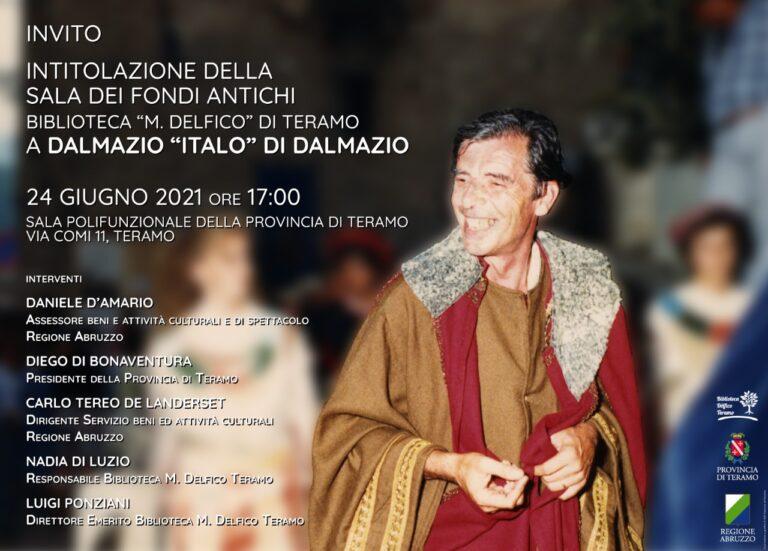 """Teramo,  biblioteca """"Delfico"""": la sala dei fondi antichi intitolata a Di Dalmazio"""