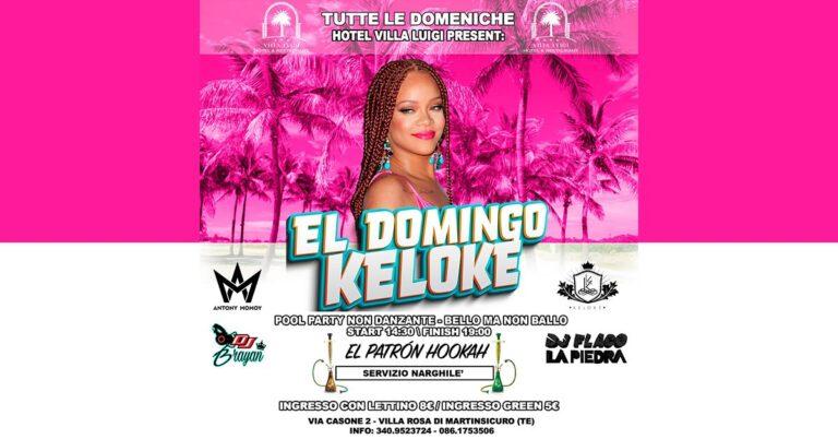 El Domingo Kelokè al VILLA LUIGI in totale sicurezza!