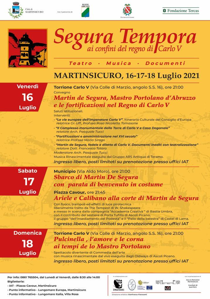 """Rievocazione storica """"Segura Tempora"""": le tre giornate a Martinsicuro"""