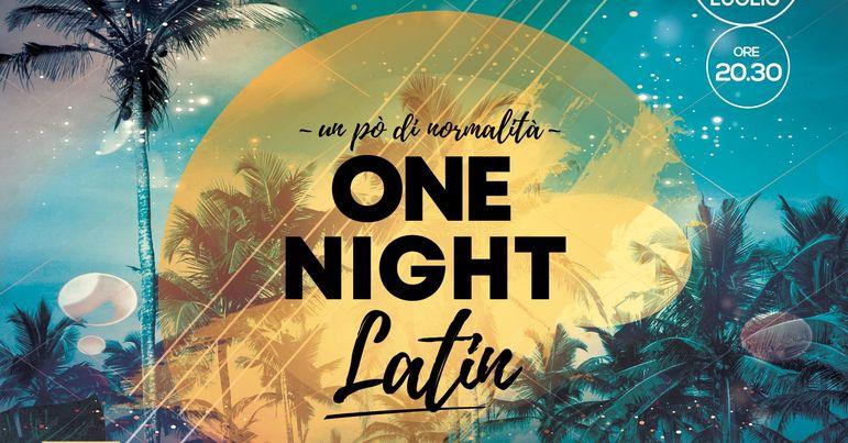Stasera ONE NIGHT LATIN al VILLA LUIGI