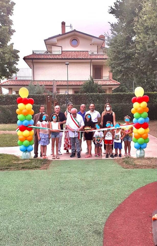 Corropoli, inaugurato il nuovo parco giochi inclusivo FOTO
