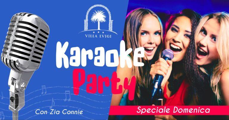 Karaoke in totale sicurezza al VILLA LUIGI domenica 25 luglio