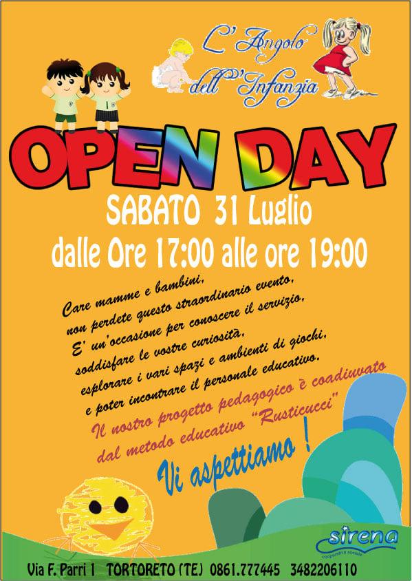Open day presso l'ASILO NIDO SIRENA