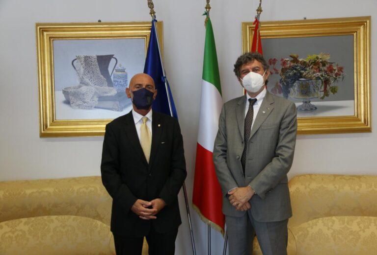Visita del nuovo Questore di Teramo al presidente Marsilio