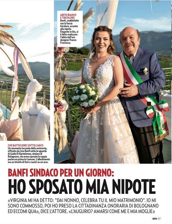 Bolognano famoso dopo il matrimonio della nipote di Lino Banfi