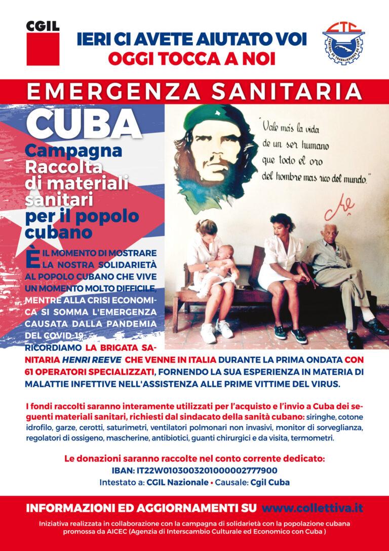 Teramo, emergenza sanitaria: la Flc Cgil sostiene il popolo cubano