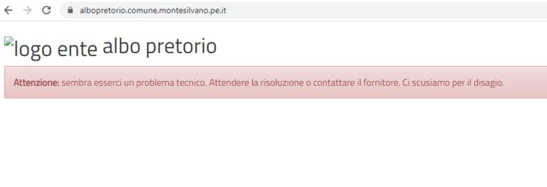 """Montesilvano: """"Albo pretorio inaccessibile dal sito del Comune"""""""