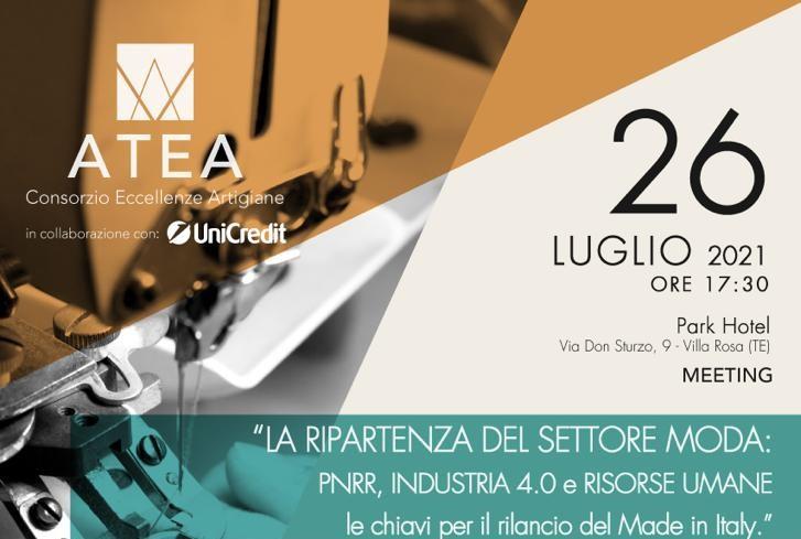 PNRR e industria 4.0: le strategie della ripartenza nel settore moda. Meeting a Villa Rosa