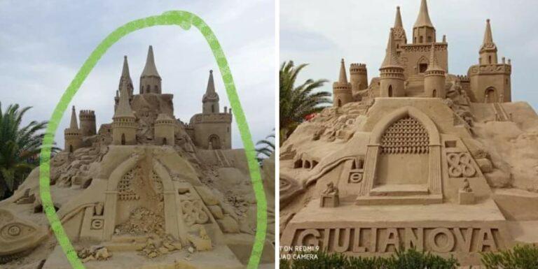 Giulianova, nuovo atto vandalico contro i castelli di sabbia
