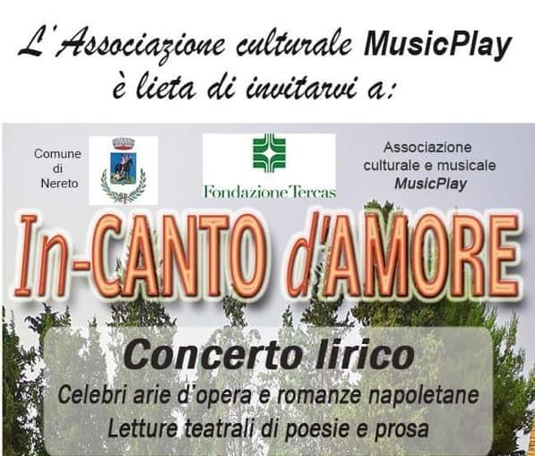 """Nereto, """"in canto d'amore"""": concerto lirico al teatro Brecht"""