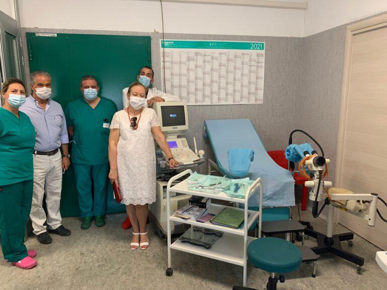 Sant'Omero, reparto ginecologia e ostetricia: la donazione al Val Vibrata