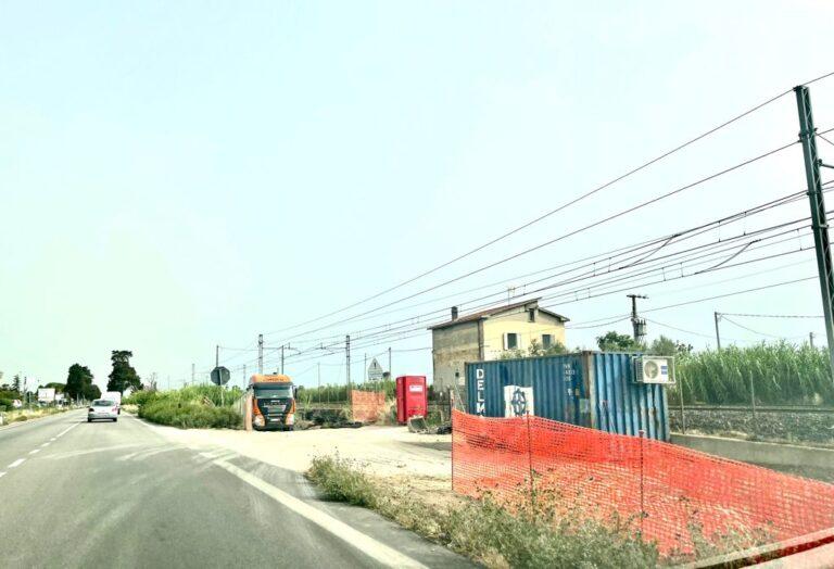 Pineto, lavori in corso al sottopassaggio ferroviario di Scerne