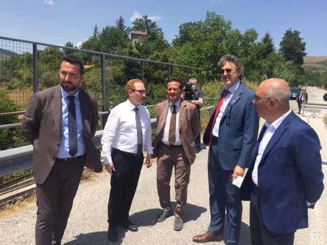 Viabilità, sopralluogo di Marsilio sul viadotto Sente-Longo