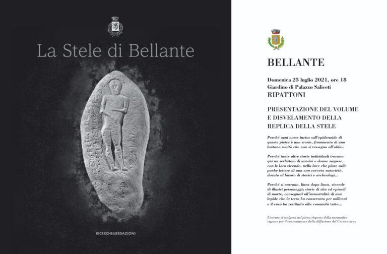 'La Stele di Bellante', presentazione della copia dell'importante reperto archeologico