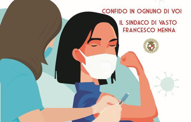 Vasto, l'appello del sindaco Menna: 'Vacciniamoci'