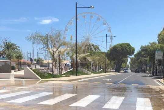 Giulianova, piazza Dalmazia si 'allaga' dopo l'inaugurazione