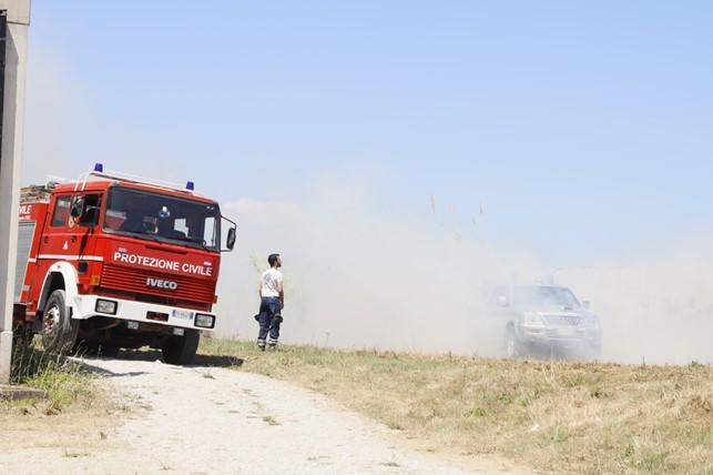 Teramo, rischio incendi boschivi: pronti i volontari di Protezione Civile Gran Sasso