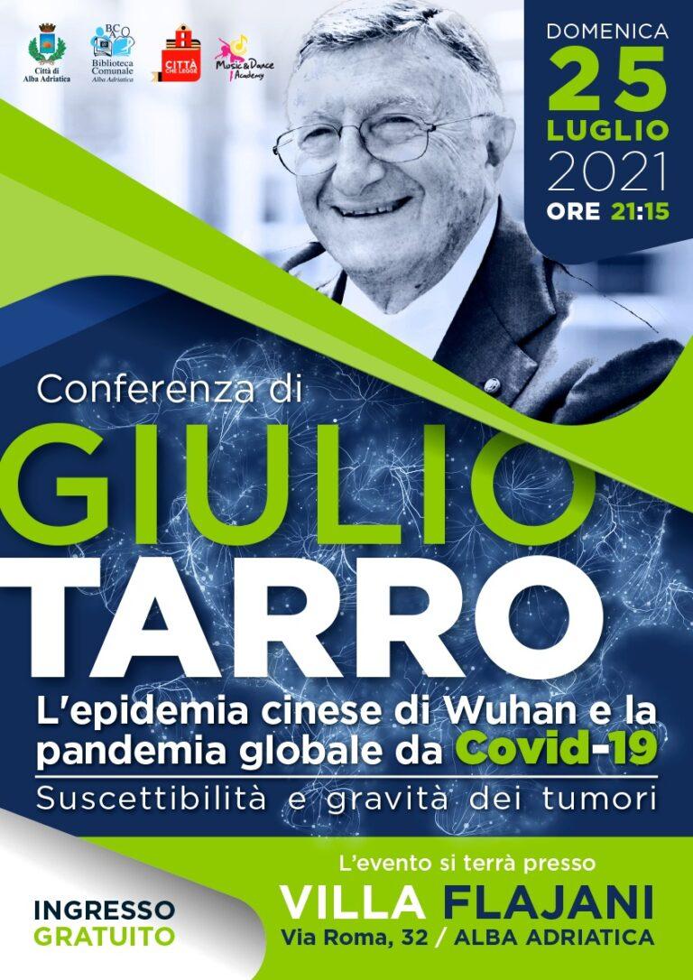 Alba Adriatica, la verità sul Covid: il virologo Giulio Tarro a Villa Flaiani
