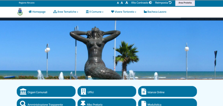 Tortoreto, aggiornamento sito comunale: ora accessibile ai portatori di handicap