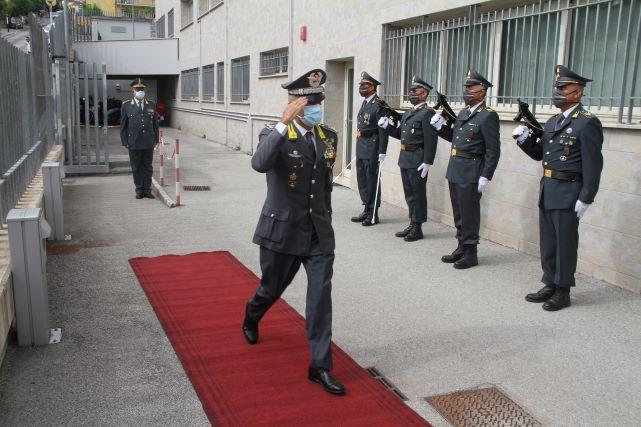 Guardia di Finanza, visita al Comando Provinciale di Chieti del Comandante Regionale Gianluigi D'Alfonso