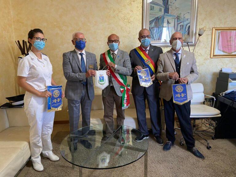 Tortoreto, visita in Comune del Rotary