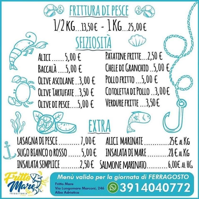 Fritto Mare: prenota il tuo menù di Ferragosto