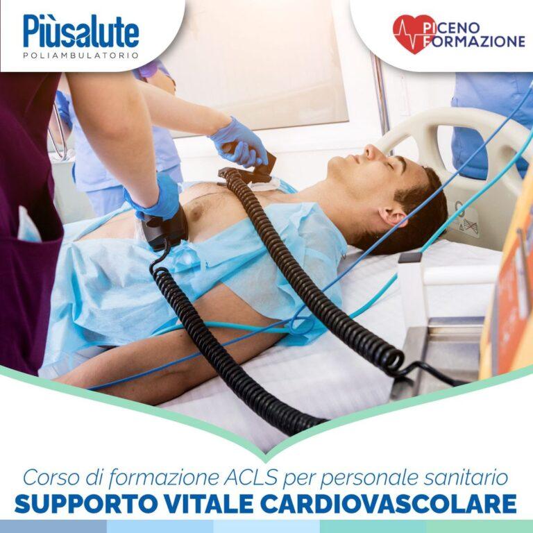Più Salute: corso di Supporto vitale cardiovascolare avanzato (ACLS)