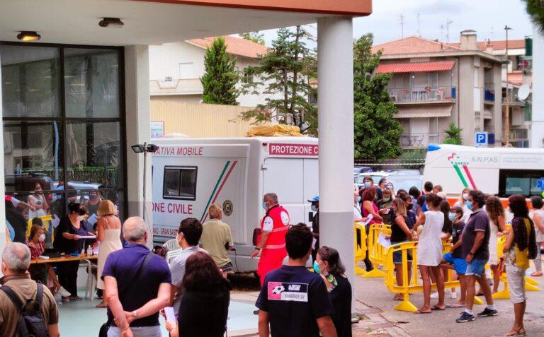 Pineto, Covid: buona partecipazione al camper della Asl per vaccini e tamponi