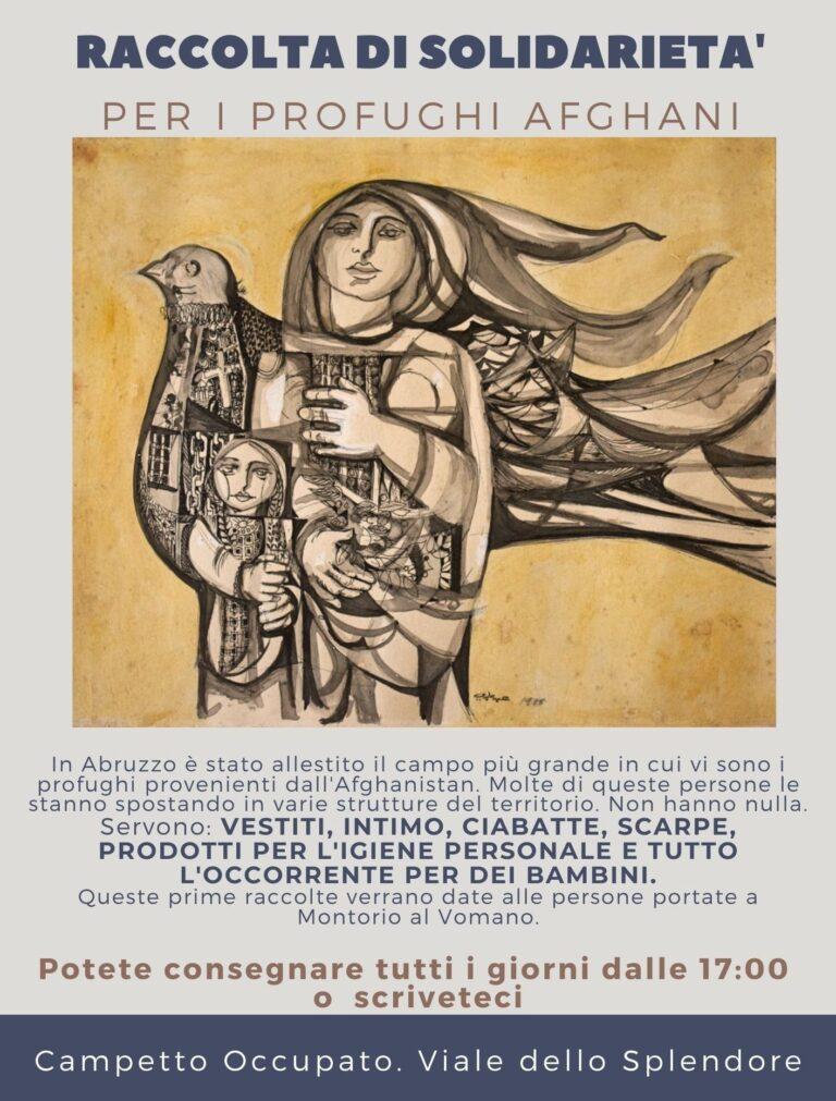 Giulianova, raccolta di solidarietà per i profughi afghani