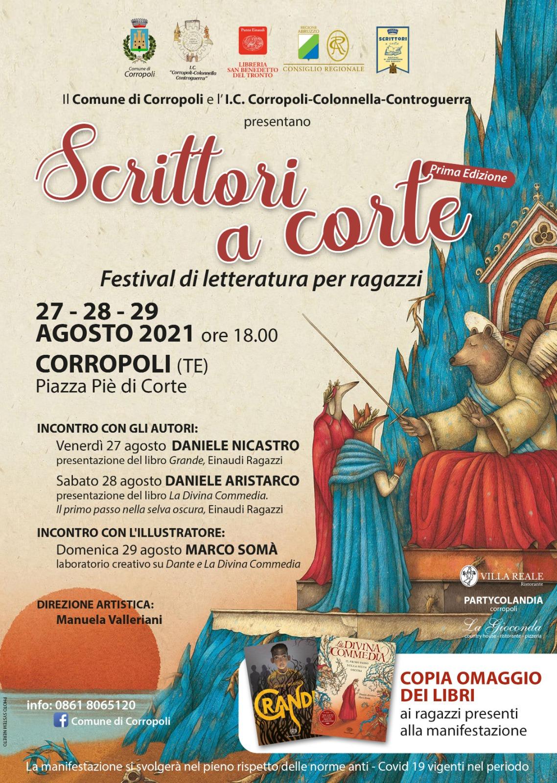 """A Corropoli la prima edizione di """"scrittori a corte"""": il festival letterario per ragazzi"""