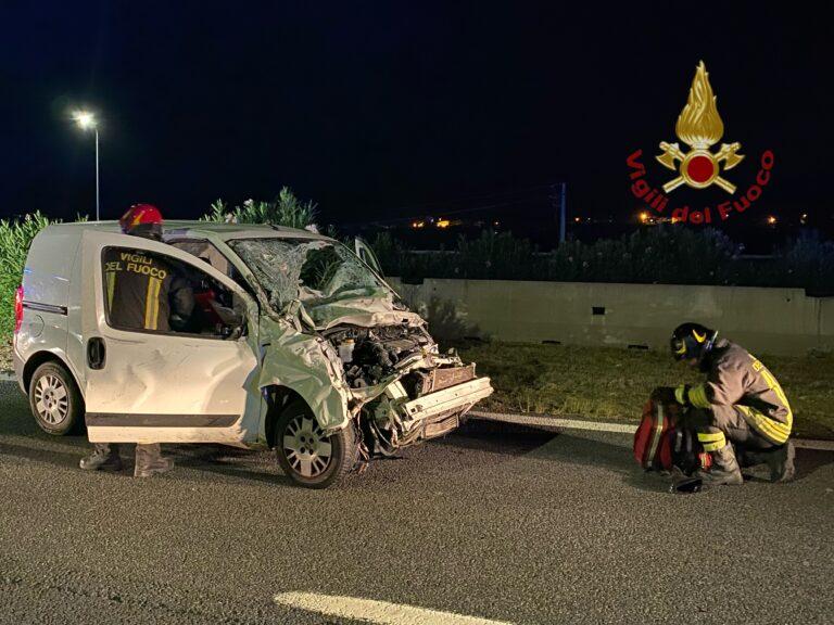 Manoppello, incidente in autostrada: 4 feriti