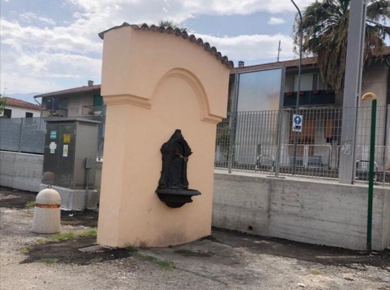 Bolognano, ristrutturati muro e fontana in piazza Enel