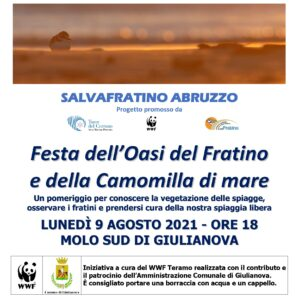 Giulianova, festa dell'oasi del Fratino e della Camomilla di Mare