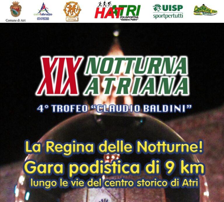Podismo, il 20 agosto torna la Notturna Atriana