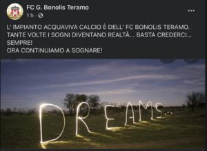 Teramo, il campo Acquaviva va alla FC Bonolis