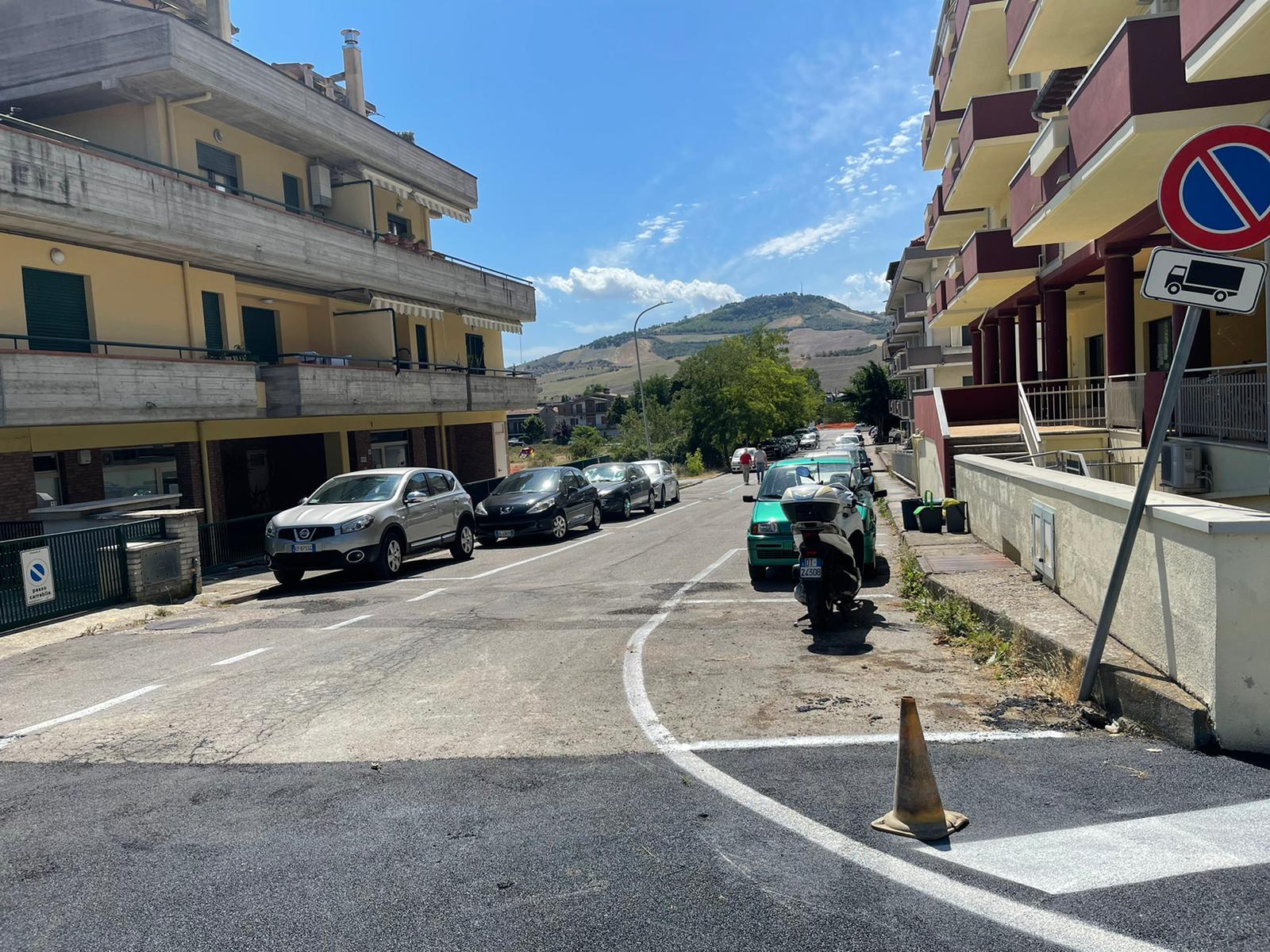 Teramo, riaperta a San Nicolò via Enrico Fermi. Rimosso orto abusivo FOTO VIDEO