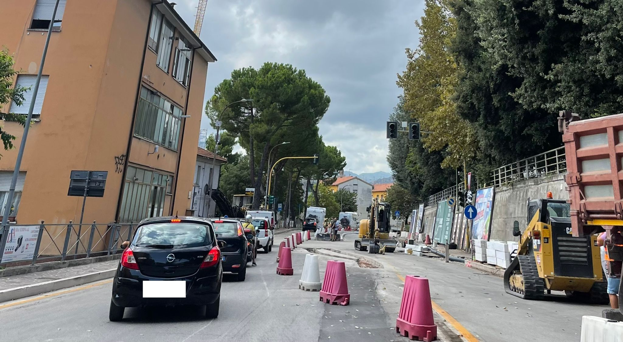 """Teramo, via agli asfalti in viale Crispi ma """"preoccupa"""" ponte San Gabriele FOTO"""