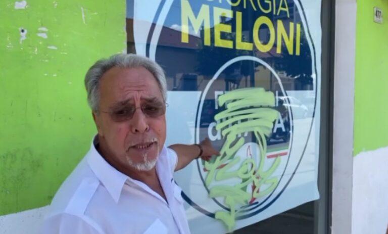 Roseto, la Digos indaga sull'atto vandalico ai danni della sede di Fratelli d'Italia NOSTRO SERVIZIO
