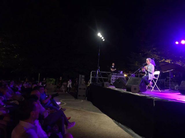 Chieti, un successo il concerto di Concato alla Villa Comunale