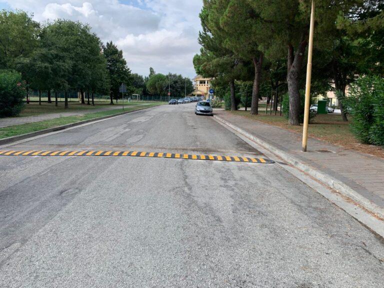 Giulianova, dossi sostituiti in viale dei Cedri. Previsti nuovi dissuasori e tre autovelox