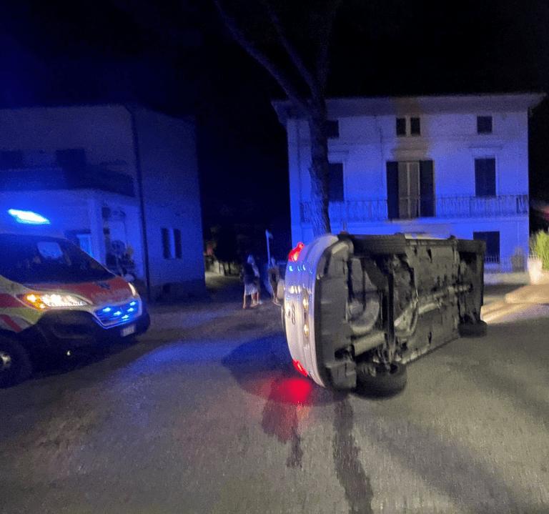 Villa Rosa, incidente in via Roma: patente ritirata per tasso alcolico