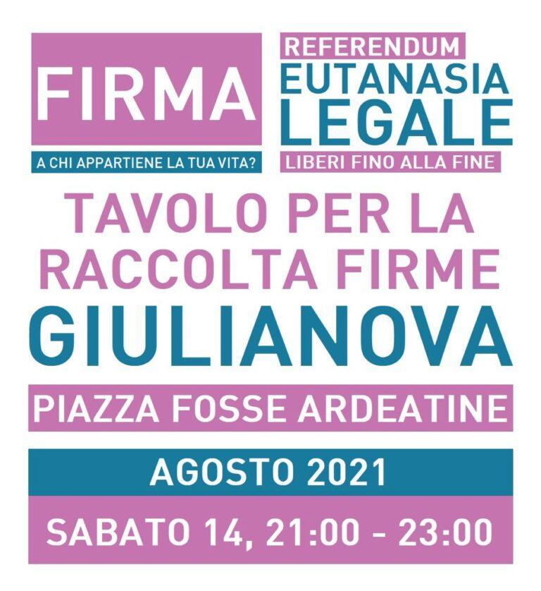 Referendum eutanasia legale, raccolta firme a Giulianova