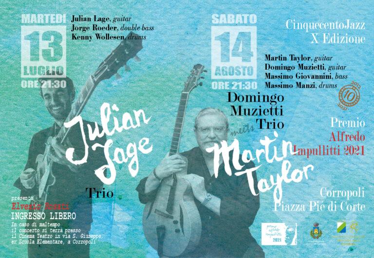 Corropoli, premio Alfredo Impullitti: il riconoscimento a Martin Taylor