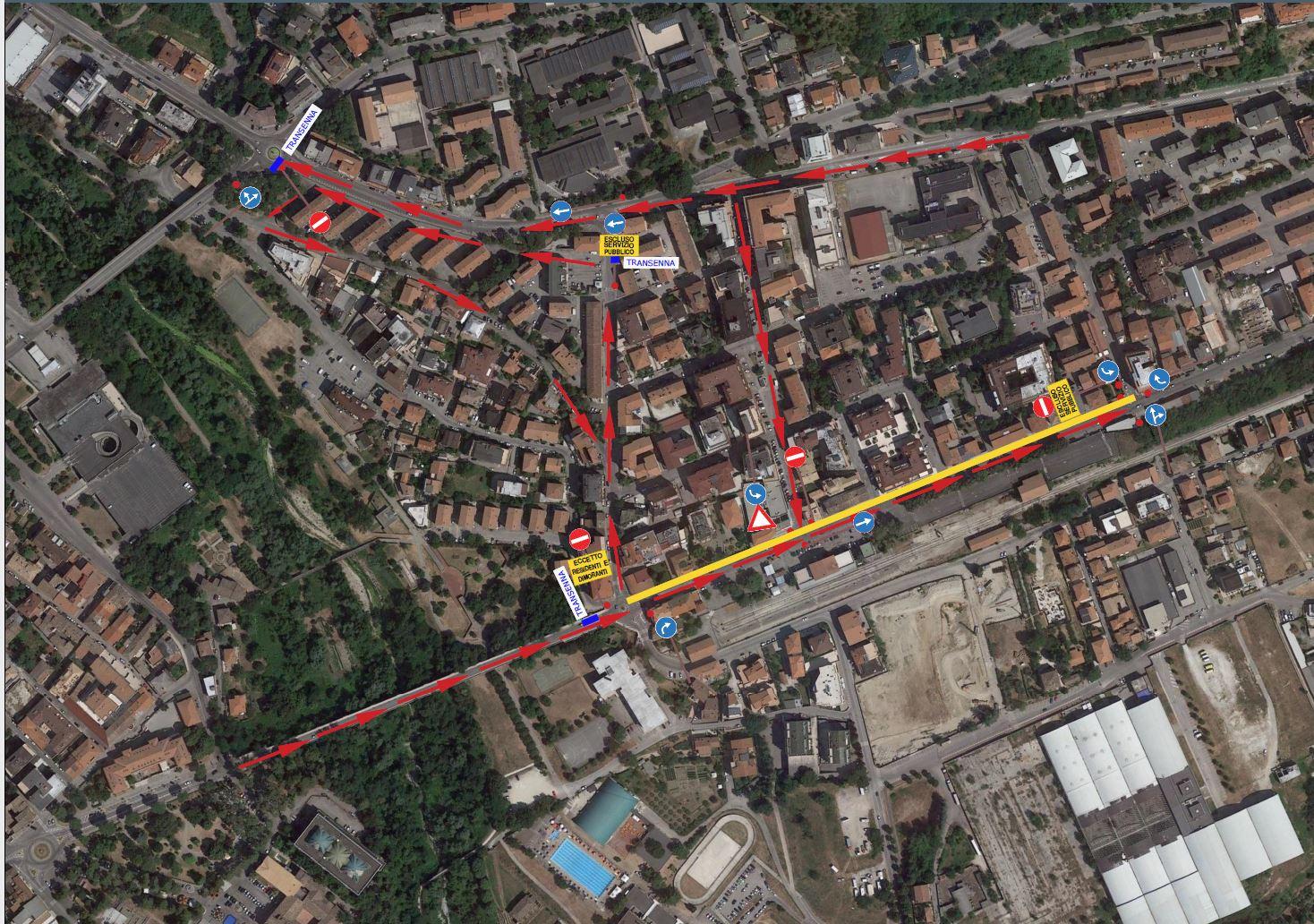 Teramo, rotonda via Fonte Regina: da lunedì traffico canalizzato in via De Gasperi e via Po