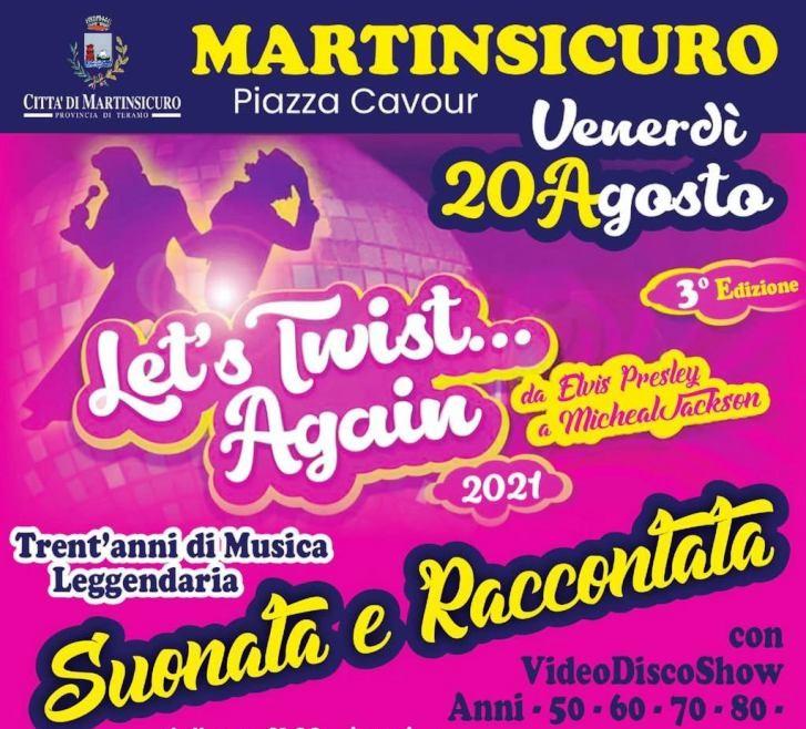 "Martinsicuro, in piazza Cavour ""Let's Twist Again: da Elvis Presley a Michael Jackson"""