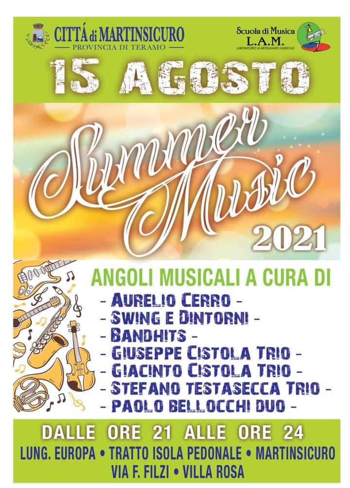 Summer music: angoli musicali a Ferragosto tra Martinsicuro e Villa Rosa