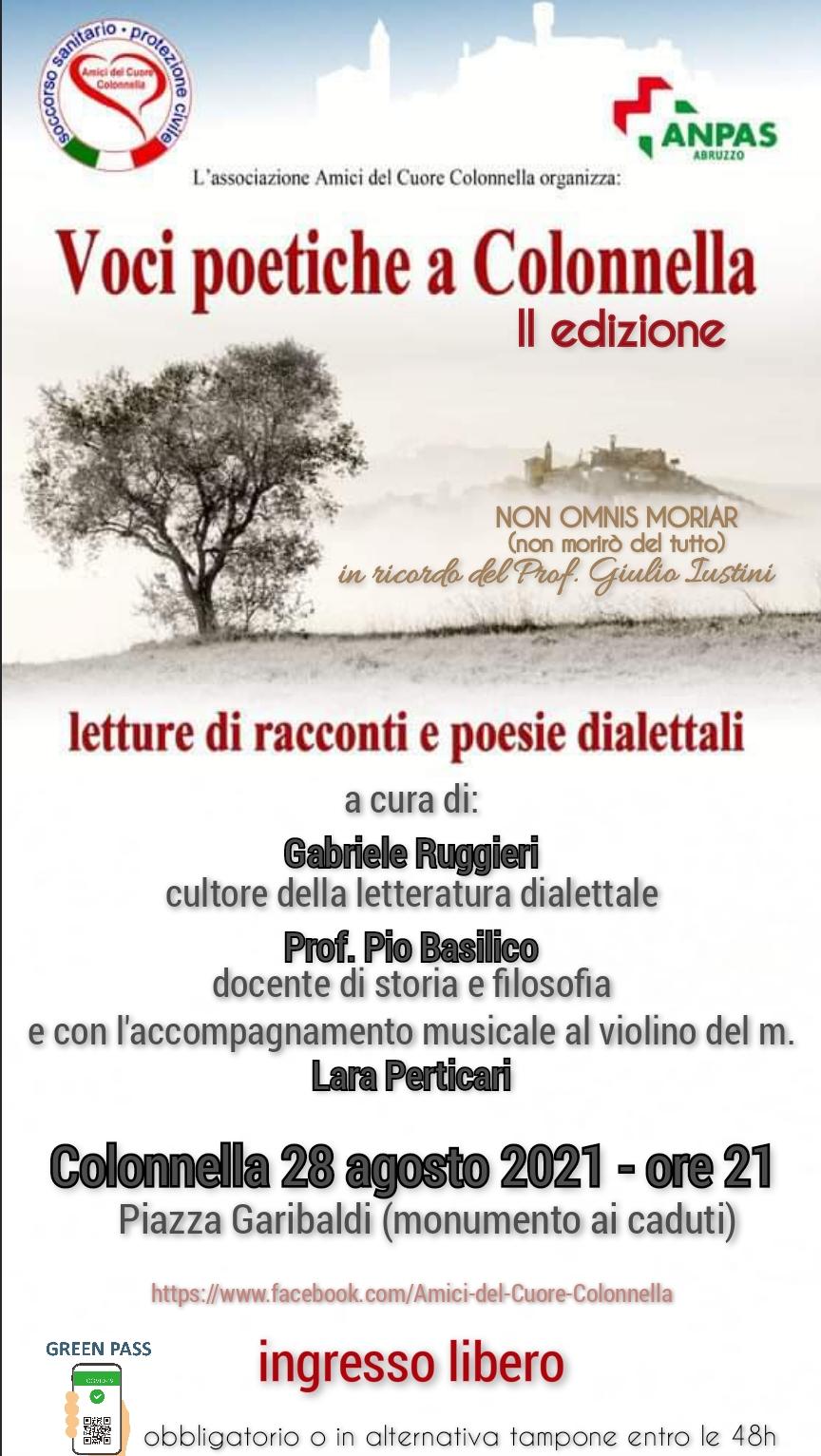 Voci poetiche a Colonnella: racconti e poesie dilettali nel ricordo di Giulio Iustini