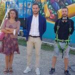Teramo, un murales a scuola di Piano della Lenta: iniziativa per la settimana dell'Alimentazione