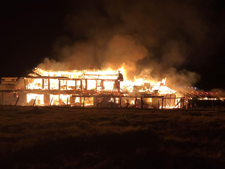 Fonte Vetica, incendio distrugge il ristorante VIDEO-FOTO