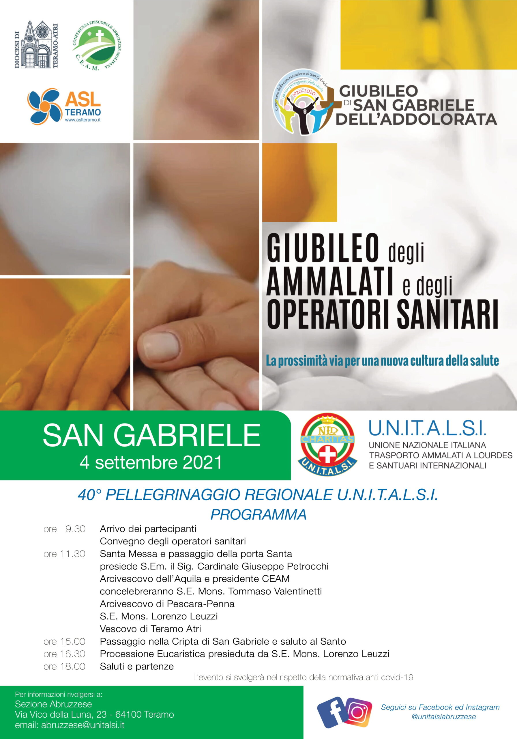 Al Santuario di San Gabriele il Giubileo degli Ammalati e degli Operatori Sanitari